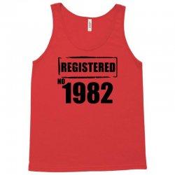 registered no 1982 Tank Top   Artistshot