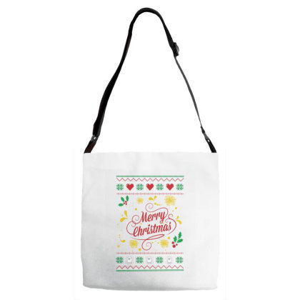 Merry Christmas Adjustable Strap Totes Designed By Fkatees