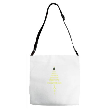 Merry Christmas And Happy New Year Adjustable Strap Totes Designed By Fkatees