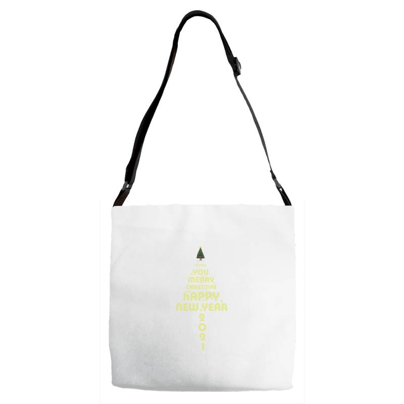 Merry Christmas And Happy New Year Adjustable Strap Totes | Artistshot