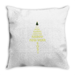 Merry Christmas And Happy New Year Throw Pillow | Artistshot