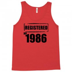 registered no 1986 Tank Top | Artistshot