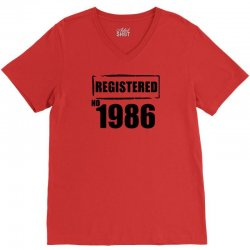registered no 1986 V-Neck Tee | Artistshot