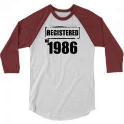 registered no 1986 3/4 Sleeve Shirt | Artistshot