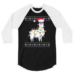 alpaca christmas 3/4 Sleeve Shirt | Artistshot