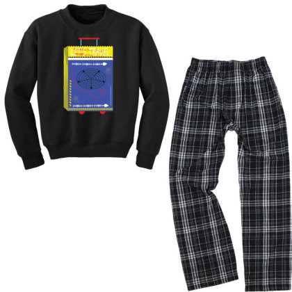 Let's Travel Youth Sweatshirt Pajama Set Designed By Prachijoshi