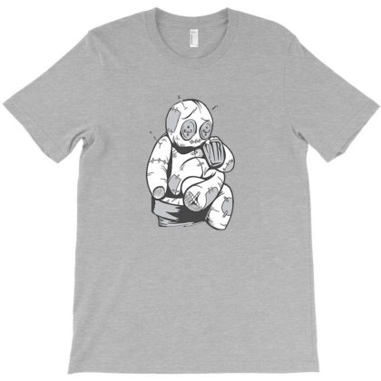 Voodoo Doll Drinking Beer T-shirt Designed By Wangsew