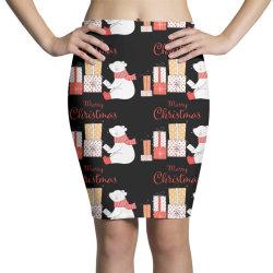 christmas bear Pencil Skirts | Artistshot