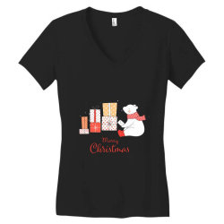 christmas bear Women's V-Neck T-Shirt | Artistshot