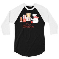 christmas bear 3/4 Sleeve Shirt | Artistshot