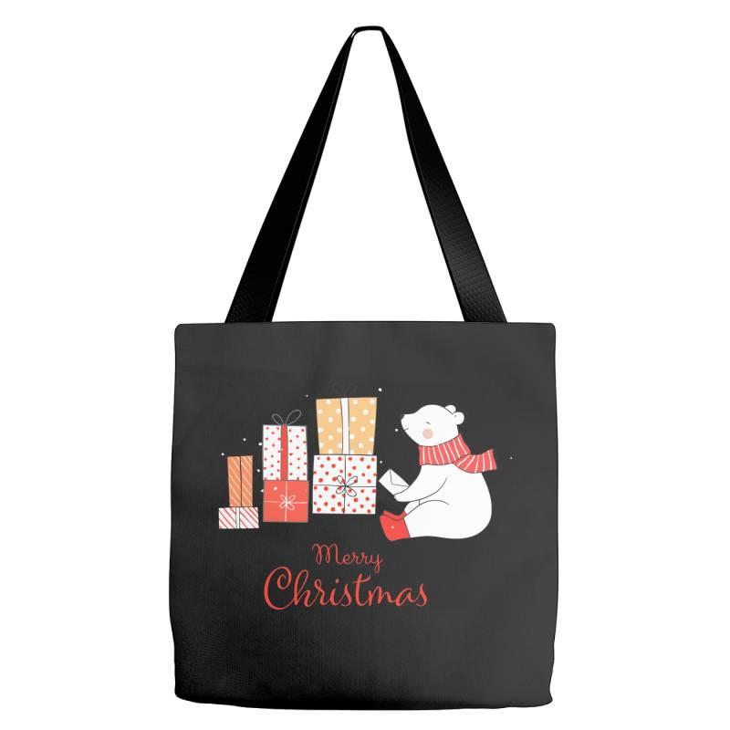 Christmas Bear Tote Bags | Artistshot
