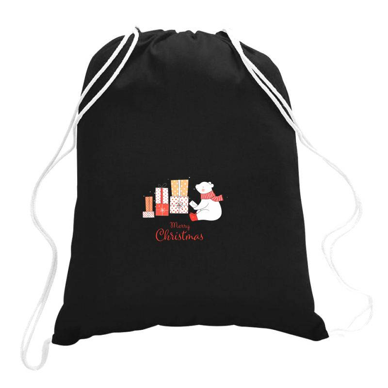 Christmas Bear Drawstring Bags | Artistshot