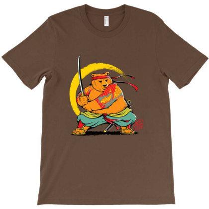 Yakuza Bear Samurai T-shirt Designed By Grendion