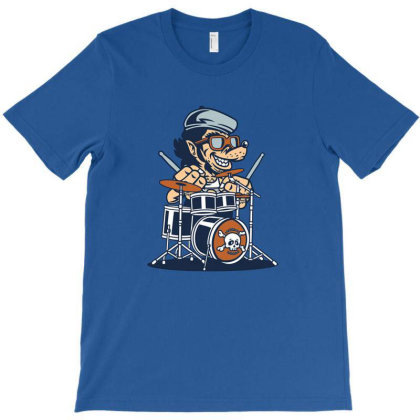 Wolf On Drums T-shirt Designed By Grendion