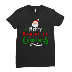 Merry Quarantine Christmas Ladies Fitted T-shirt Designed By Bernstinekelly