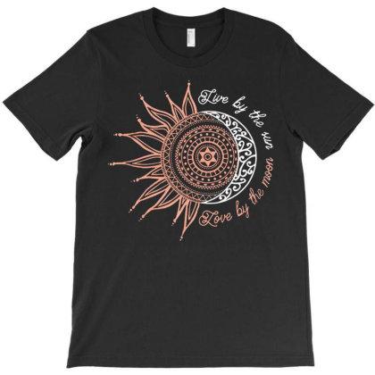 Black Sun Moon T-shirt Designed By Bernstinekelly