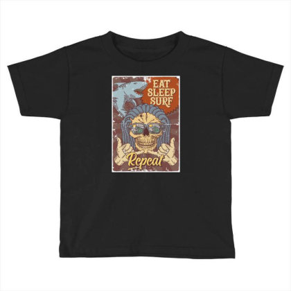 Shark, Skull And Hand Gesture Toddler T-shirt Designed By Wiraart