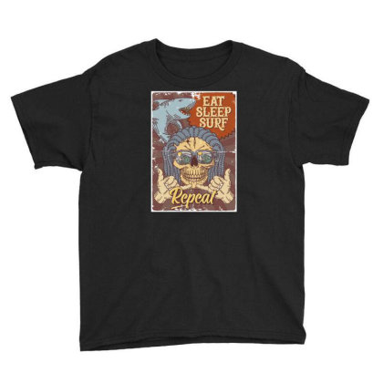Shark, Skull And Hand Gesture Youth Tee Designed By Wiraart