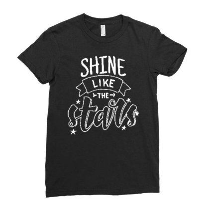 Shine Like The Stars (2) Ladies Fitted T-shirt Designed By Wiraart