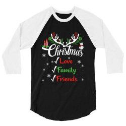family christmas love family friends 3/4 Sleeve Shirt | Artistshot