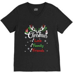family christmas love family friends V-Neck Tee | Artistshot