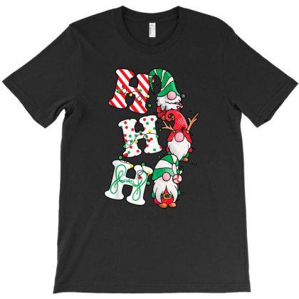Ho Ho Ho Christmas Gnomies T-shirt Designed By Hoainv