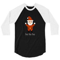 8 bit santa retro video game inspired 3/4 Sleeve Shirt | Artistshot