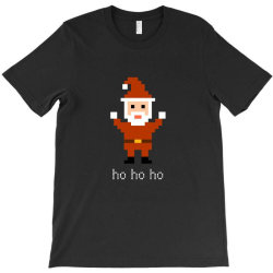 8 bit santa retro video game inspired T-Shirt | Artistshot
