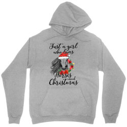 just a girl who loves horses and christmas Unisex Hoodie   Artistshot