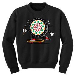 skater skateboard dart game board Youth Sweatshirt | Artistshot