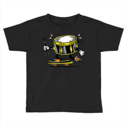 skater skateboard drum with sticks Toddler T-shirt | Artistshot