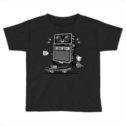skater skateboard guitar distortion effect Toddler T-shirt | Artistshot