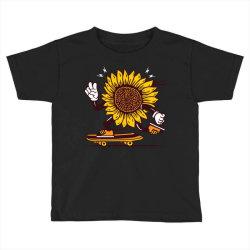 skater sunflower skateboarding Toddler T-shirt | Artistshot