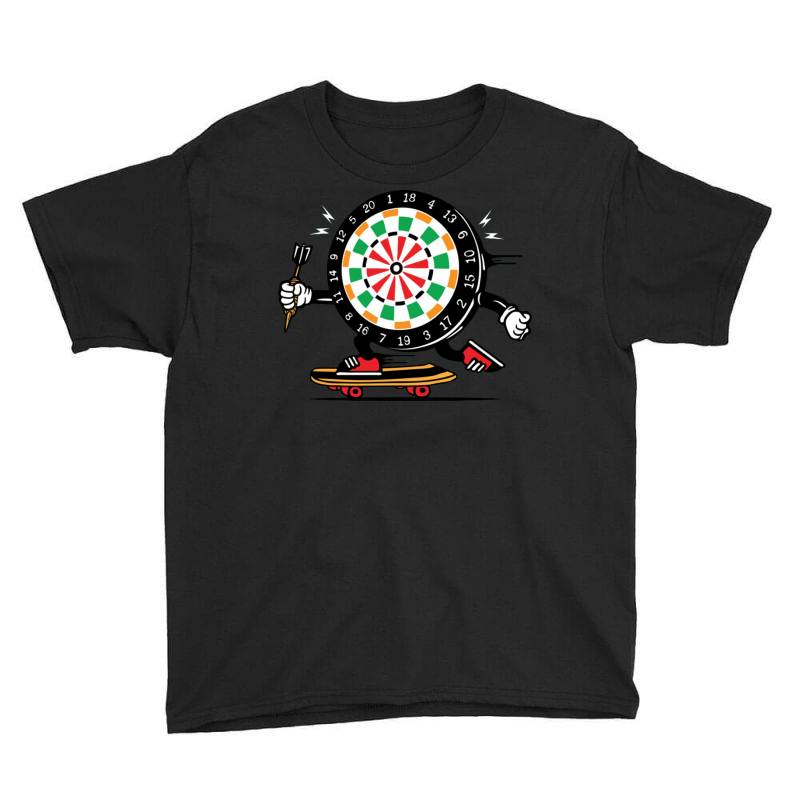 Skater Skateboard Dart Game Board Youth Tee | Artistshot