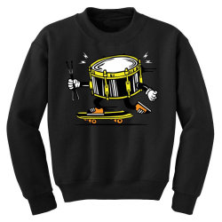 skater skateboard drum with sticks Youth Sweatshirt | Artistshot