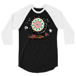 skater skateboard dart game board 3/4 Sleeve Shirt   Artistshot