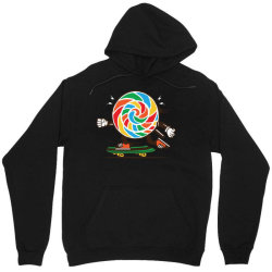 skater skateboard sweet colourful candy Unisex Hoodie | Artistshot
