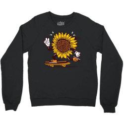 skater sunflower skateboarding Crewneck Sweatshirt | Artistshot