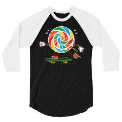 skater skateboard sweet colourful candy 3/4 Sleeve Shirt | Artistshot