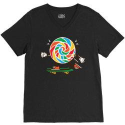 skater skateboard sweet colourful candy V-Neck Tee | Artistshot