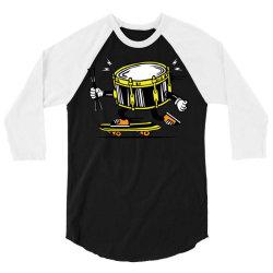 skater skateboard drum with sticks 3/4 Sleeve Shirt | Artistshot