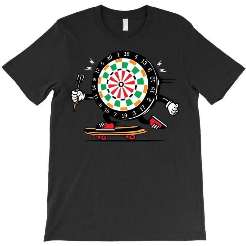 Skater Skateboard Dart Game Board T-shirt   Artistshot