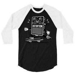 skater skateboard guitar distortion effect 3/4 Sleeve Shirt | Artistshot