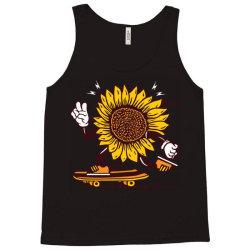 skater sunflower skateboarding Tank Top | Artistshot