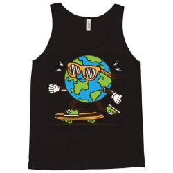 skater skateboard earth globe Tank Top | Artistshot