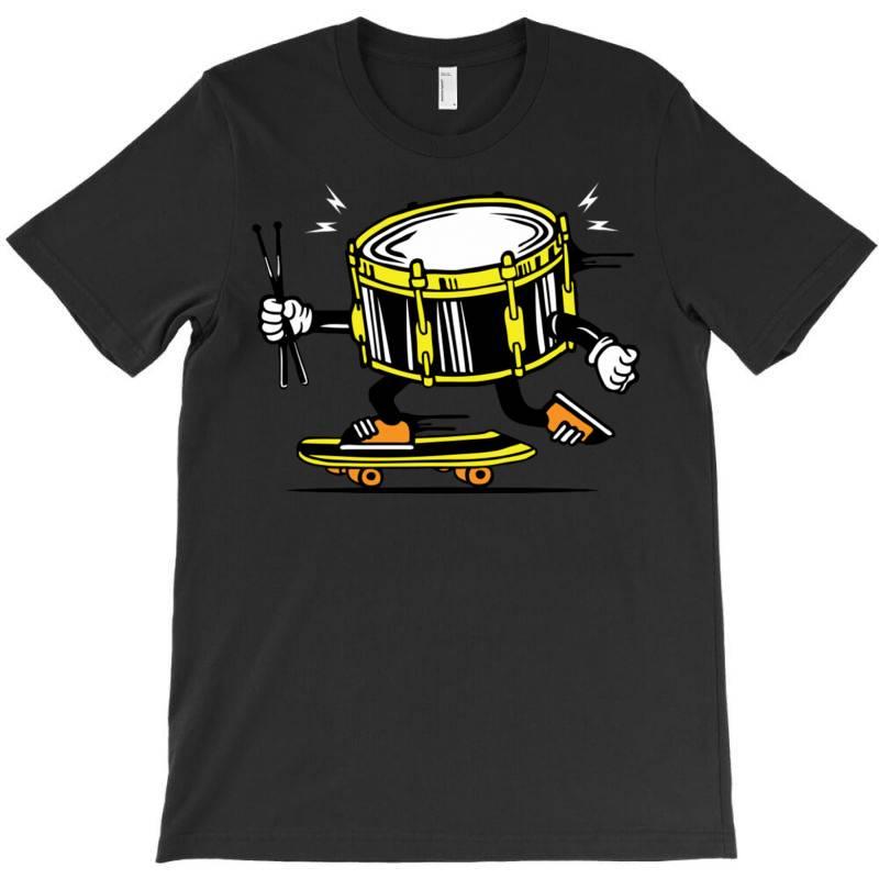 Skater Skateboard Drum With Sticks T-shirt | Artistshot