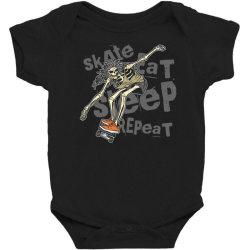 skeleton on the skateboard 1 Baby Bodysuit | Artistshot