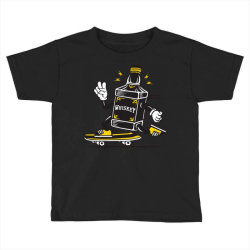 skater whiskey bottle skateboarding Toddler T-shirt | Artistshot