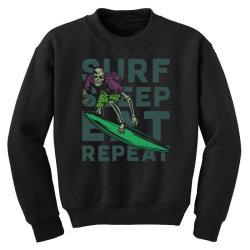 skeleton on surfing board Youth Sweatshirt | Artistshot