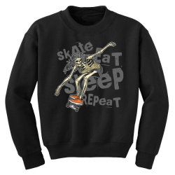skeleton on the skateboard 1 Youth Sweatshirt | Artistshot